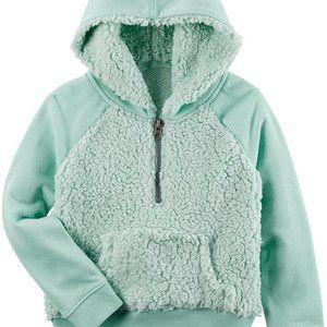 Carter's Soft Teal Sherpa Hoodie Sweatshirt